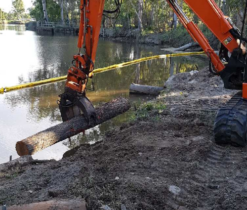 Creek Bank Stabilisation in Action