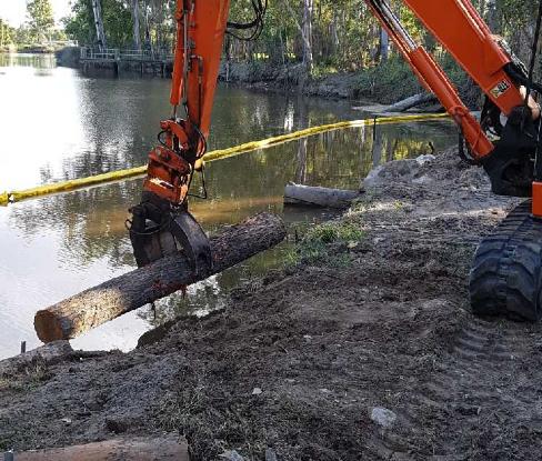 Creek Bank Stabilisation in Action