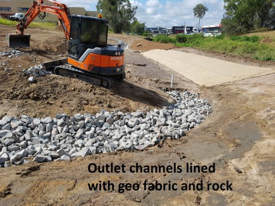 Cleaning our creeks with a new Infiltration Basin